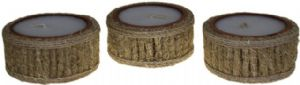 Candle Vertiver~Vertiver Grass Candle Pot~Fair Trade by Folio Gothic Hippy